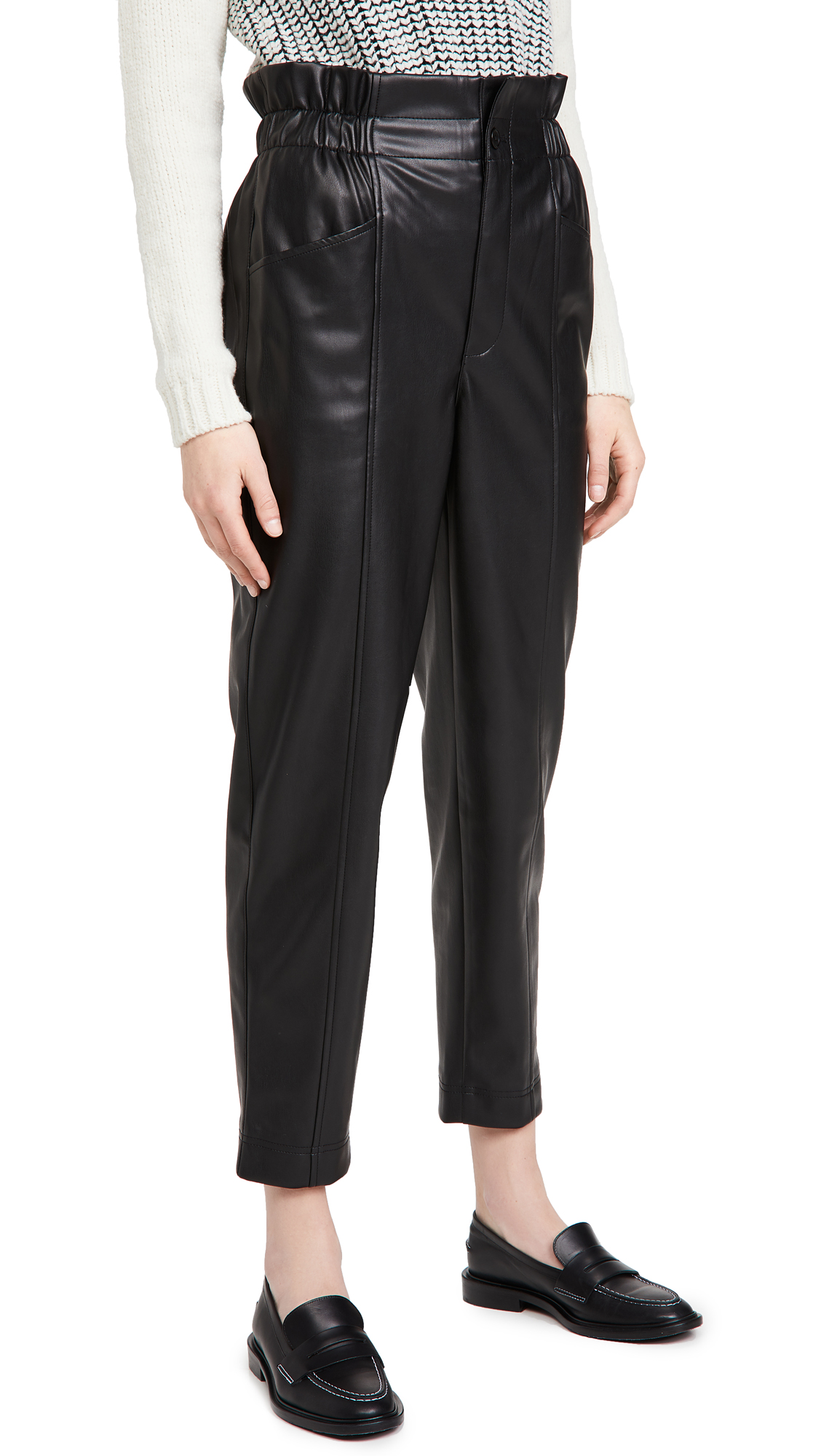 Madewell FAUX LEATHER TAPERED PANTS