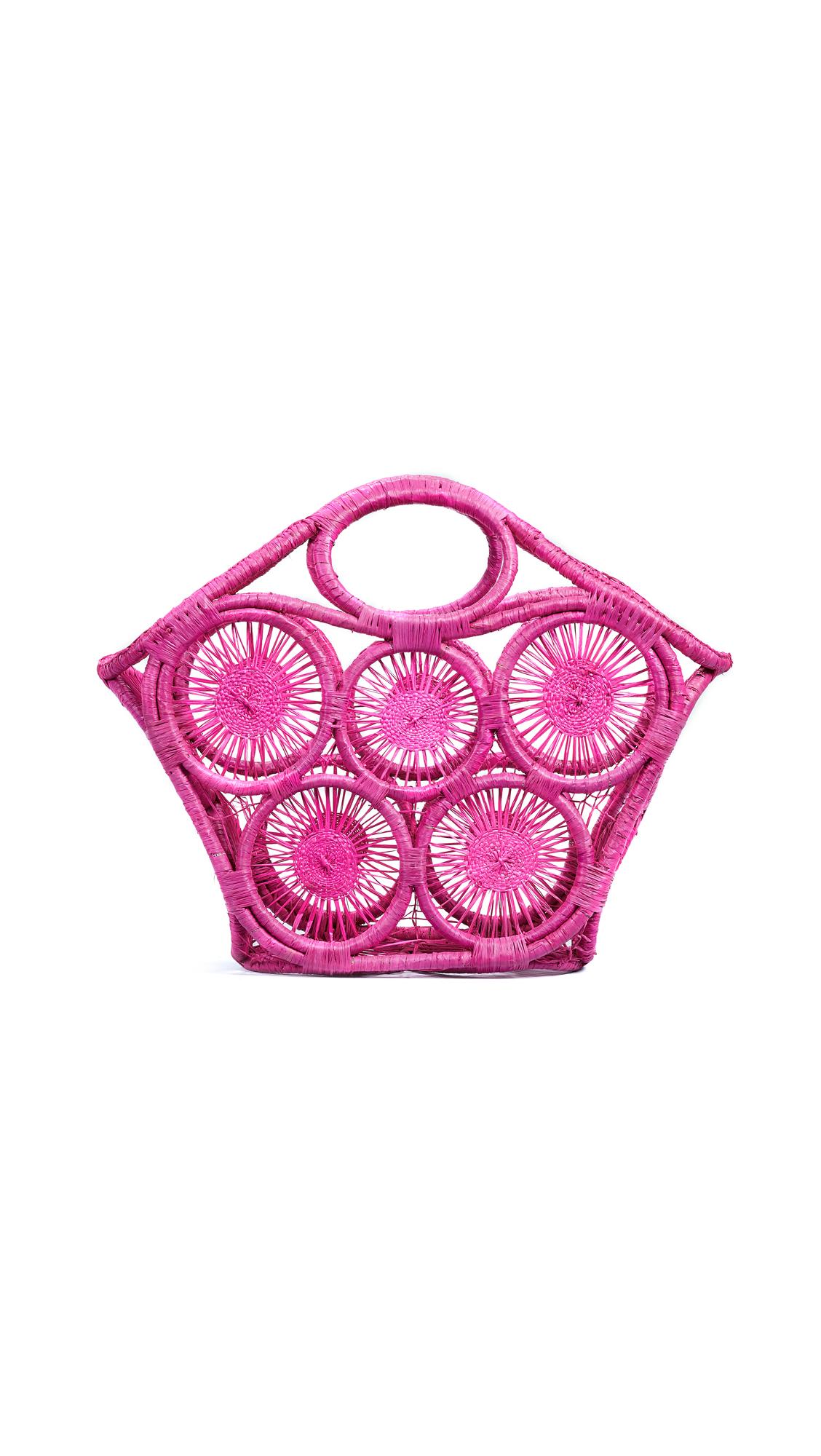 Fortaleza Open Weave Tote, Pink