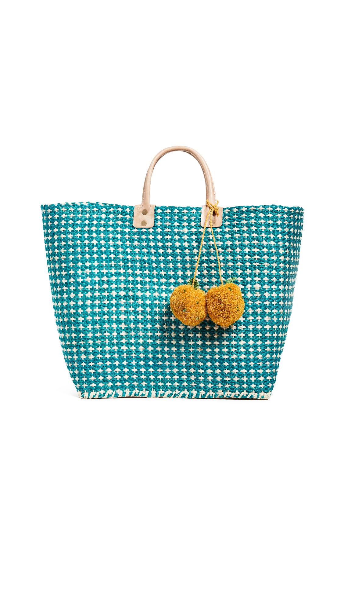Hadley Fruit Basket, Aqua