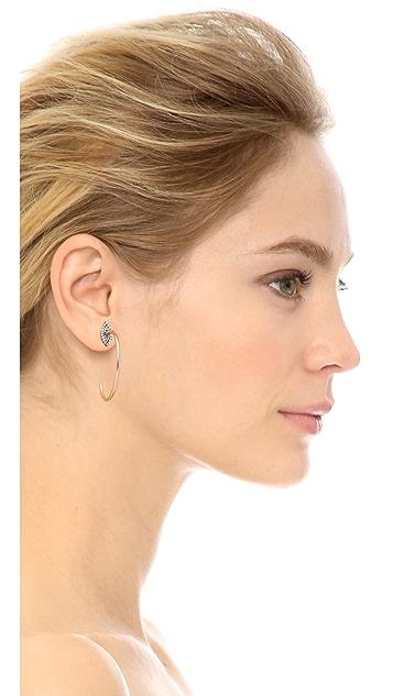 Maha Lozi Halo Hoop Earrings