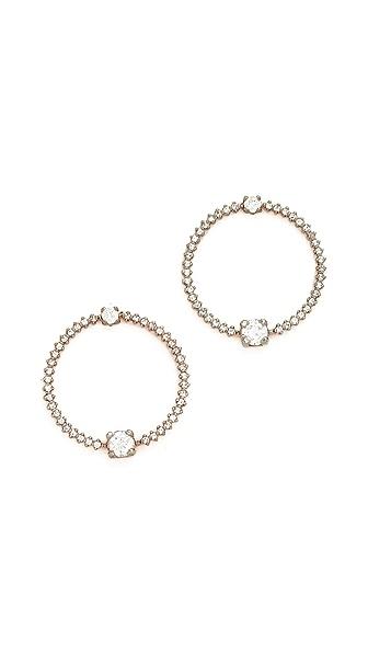 Maha Lozi Oh! Earrings - Clear/Rhodium