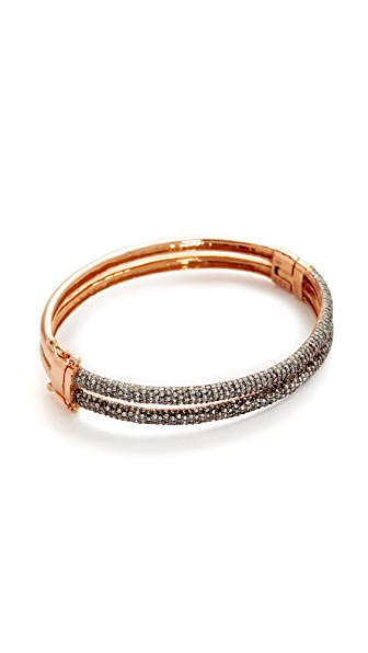 Maha Lozi Breakfree Bracelet - Clear/Black/Rose Gold