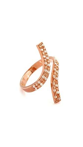 Maha Lozi Wild Things Ring - Clear/Champagne/Rose Gold