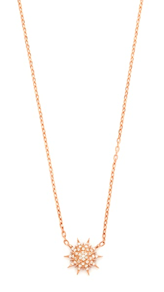 Maha Lozi Mini Star Necklace - Clear/Rose Gold