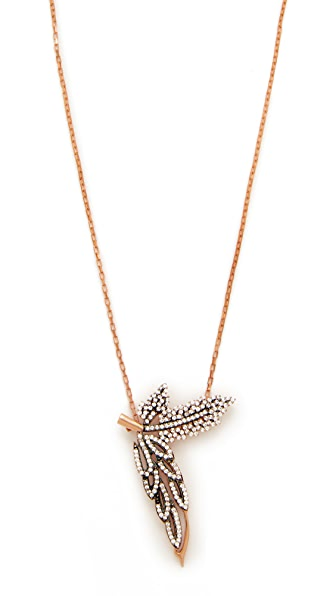 Maha Lozi C est La Vie Necklace - Clear/Black/Rose Gold