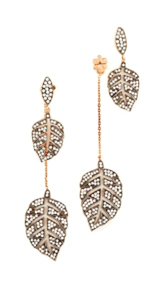 Maha Lozi Farmers Leaf Earrings