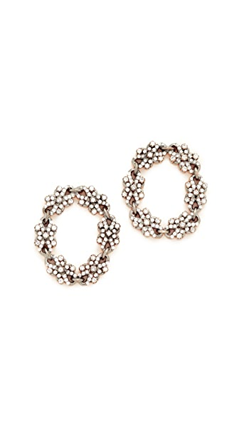 Maha Lozi Time After Time Earrings - Clear/Rhodium
