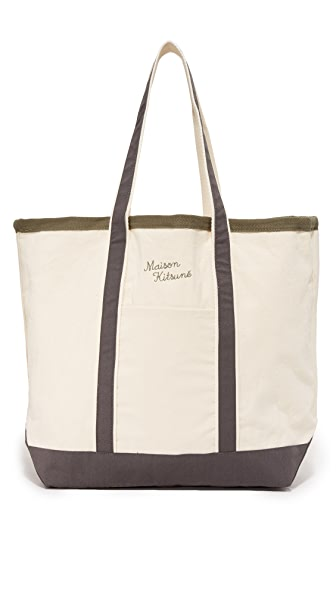 Maison Kitsune Palais Royal Shopping Bag