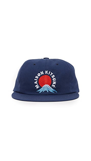 Maison Kitsune Mount Fuji Baseball Cap