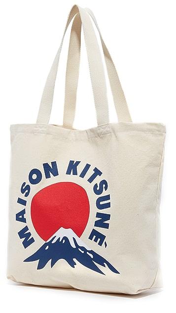 Maison Kitsune Mount Fuji Tote