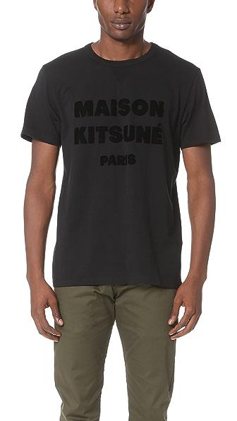 Maison Kitsune Maison Kitsune Hair Print Tee