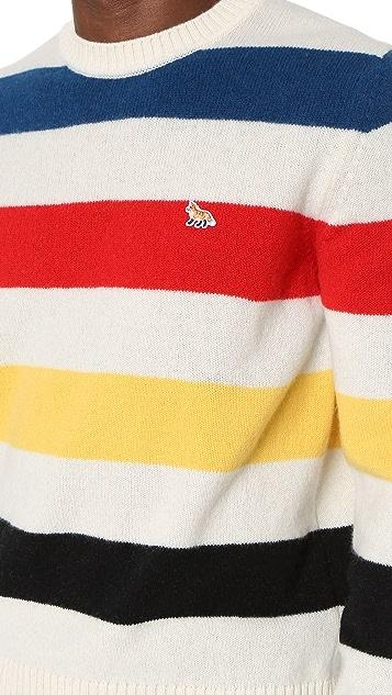 Maison Kitsune Lambswool Stripe Pullover