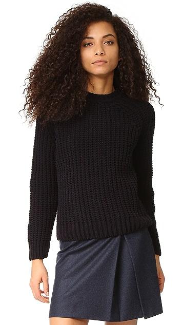 Maison Kitsune Velvet Chunky Pullover