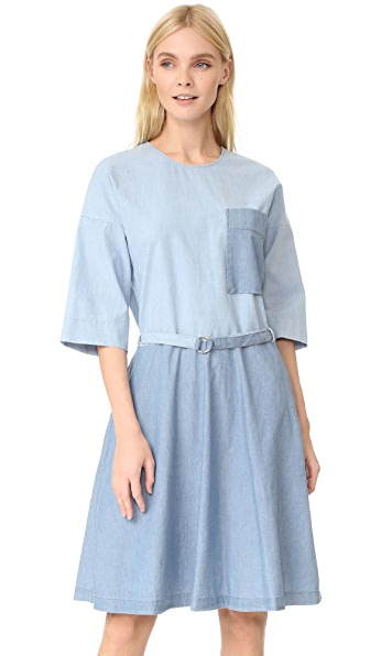 Maison Kitsune Chambray Jade Loose Cut Dress at Shopbop