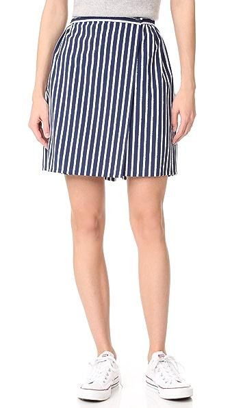 Maison Kitsune Lili Wrap Around Skirt - Navy