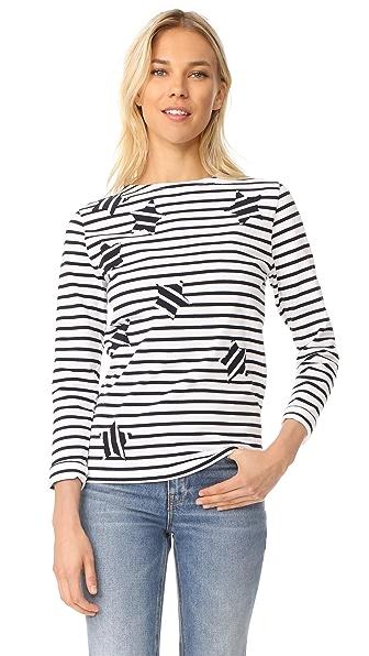 Maison Kitsune Marin Tee Shirt - White/Navy