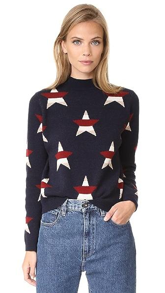 Maison Kitsune Allover Stars Pullover - Navy