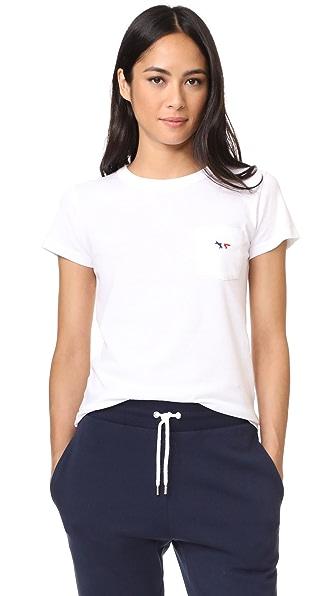 Maison Kitsune Tricolor Fox Patch Tee Shirt