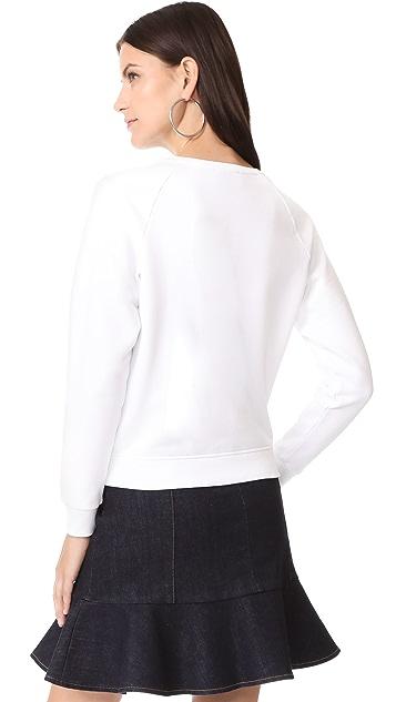 Maison Kitsune Tricolor Fox Patch Sweat Shirt