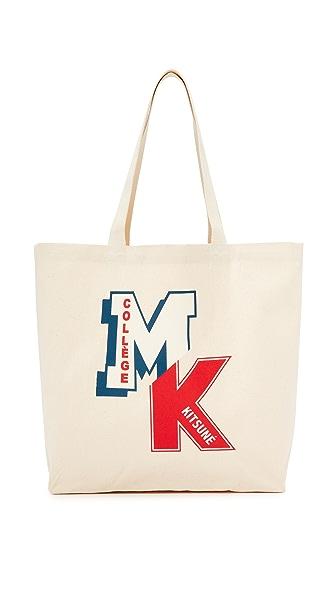 Maison Kitsune MK College Patch Tote