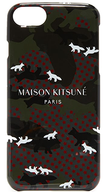 Maison Kitsune Camo Fox iPhone 7 Case