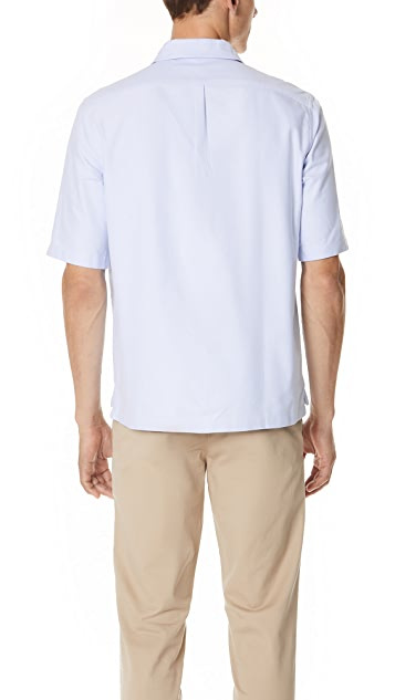 Maison Kitsune Oxford Short Sleeve Shirt