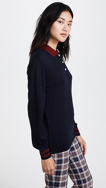 Maison Kitsune Shiny Collar Polo Shirt