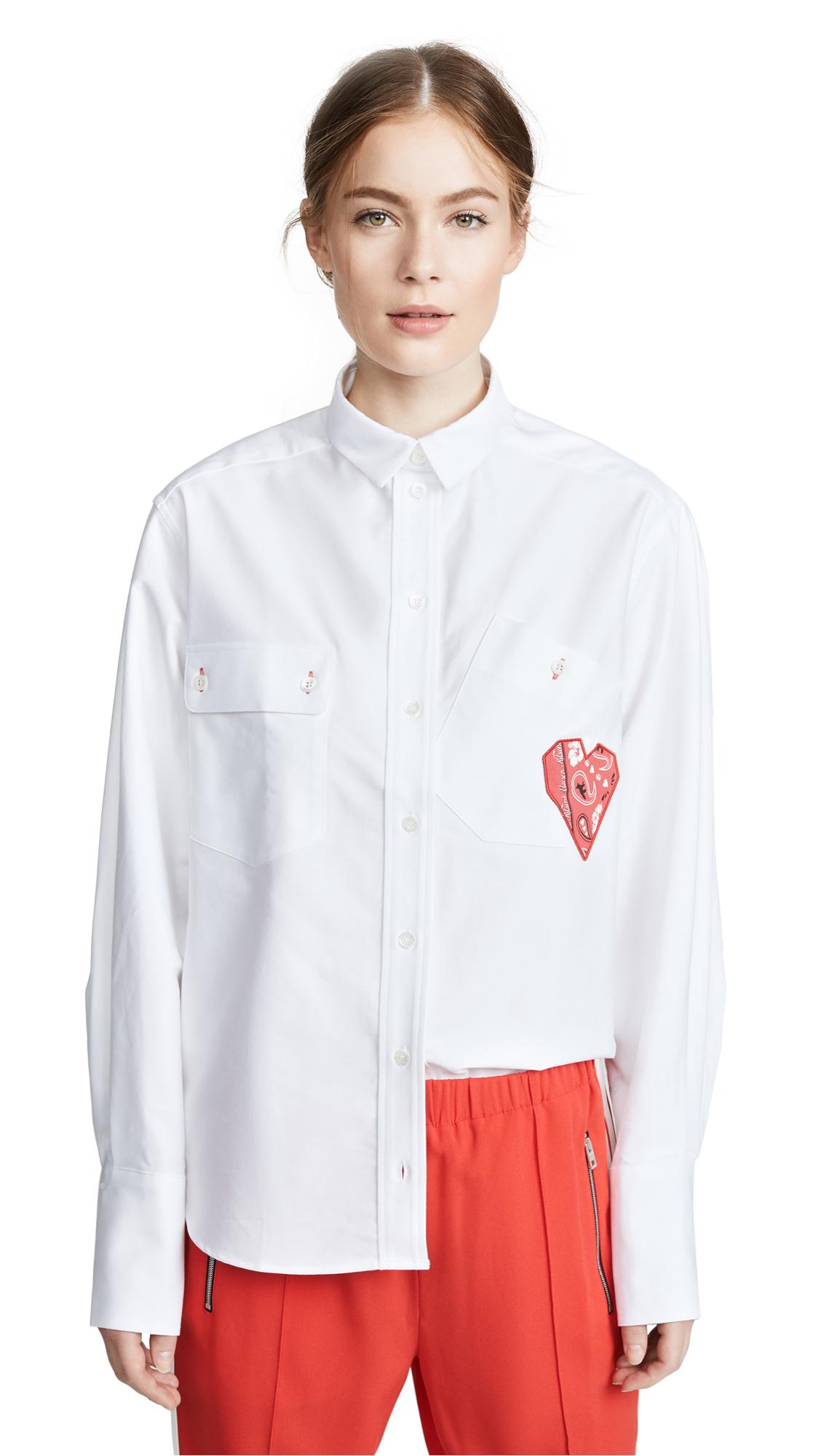 Maison Kitsune Verona Button Down Shirt In White