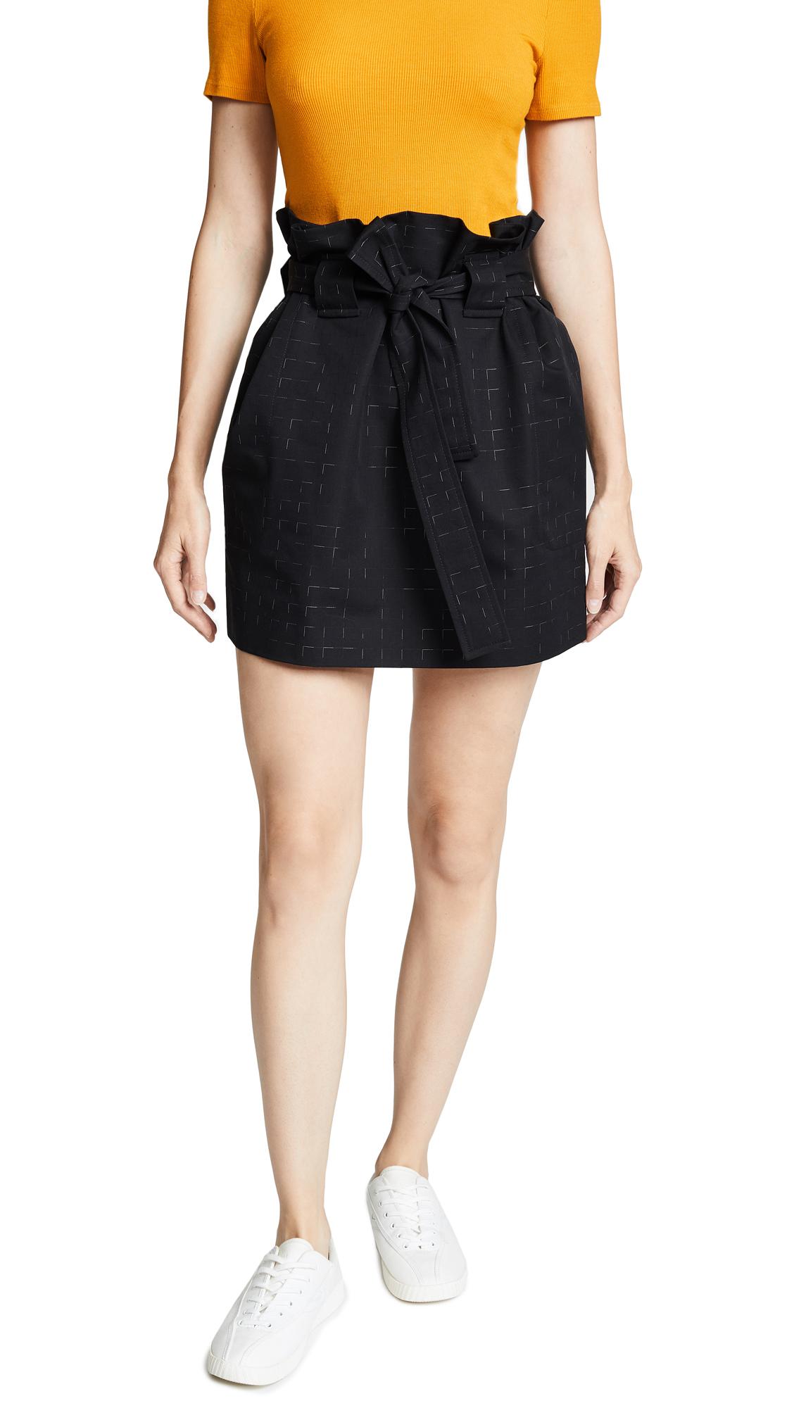 Maison Kitsune Elsa Knotted Skirt In Black Check