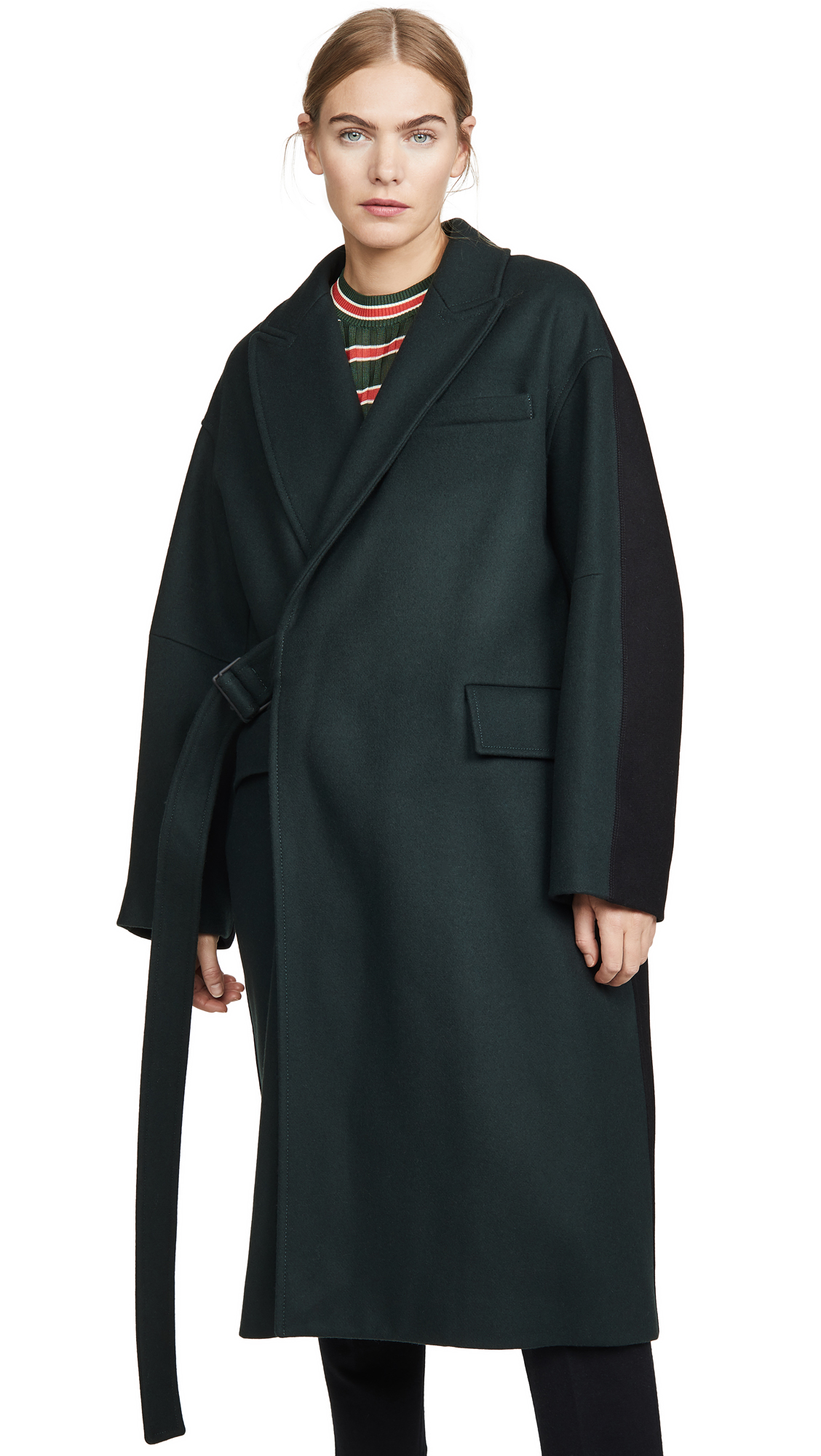 Buy Maison Kitsune online - photo of Maison Kitsune Wrap Coat