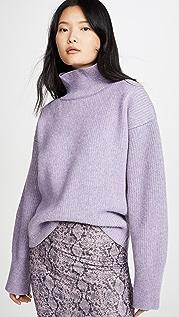 Maison Kitsune Пуловер из рубчатого трикотажа