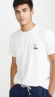 Maison Kitsune Short Sleeve T-Shirt with Smiley Fox