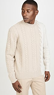 Maison Kitsune Long Sleeve Pullover Cable-Knit