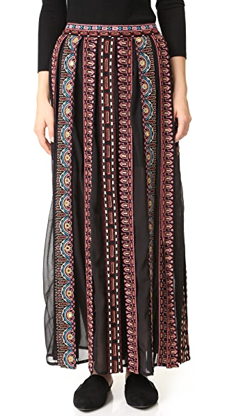 Scotch & Soda/Maison Scotch Maxi Skirt with Tassels