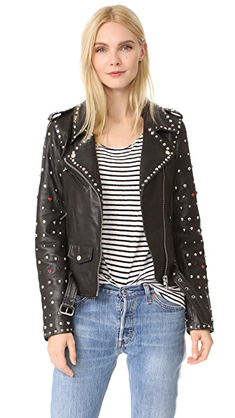 Scotch & Soda/Maison Scotch Studded Biker Jacket