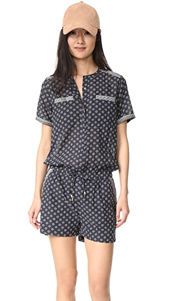 Scotch & Soda/Maison Scotch Mixed Print Romper