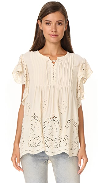 Scotch & Soda/Maison Scotch Broderie Blouse