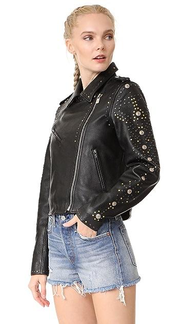 Scotch & Soda/Maison Scotch Leather Racing Biker Jacket