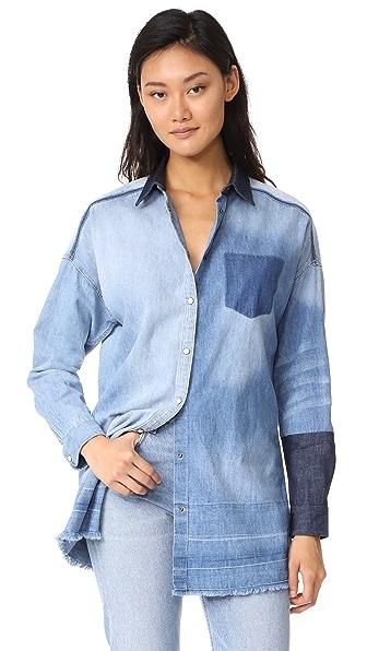 Scotch & Soda/Maison Scotch Customized Denim Shirt - Indigo