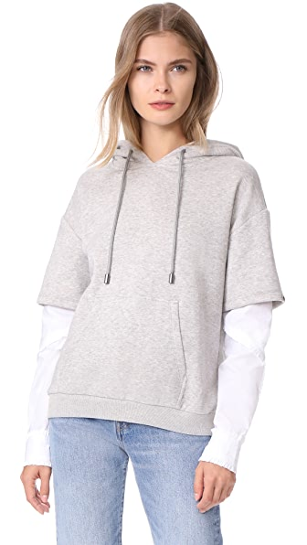 Scotch & Soda/Maison Scotch Hooded Sweatshirt - Grey Melange