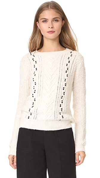Scotch & Soda/Maison Scotch Crew Neck Cable Knit Sweater