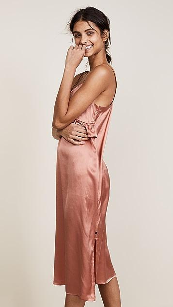 Scotch & Soda/Maison Scotch Silk Pajama Inspired Slip Dress