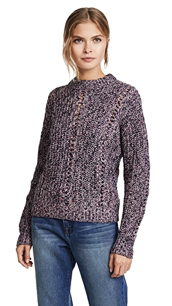 Scotch & Soda/Maison Scotch Crew Neck Sweater In Combo A