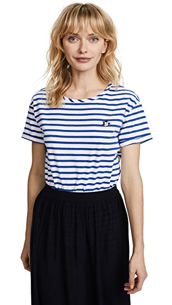 Scotch & Soda/Maison Scotch Felix Stripe Tee In Stripe