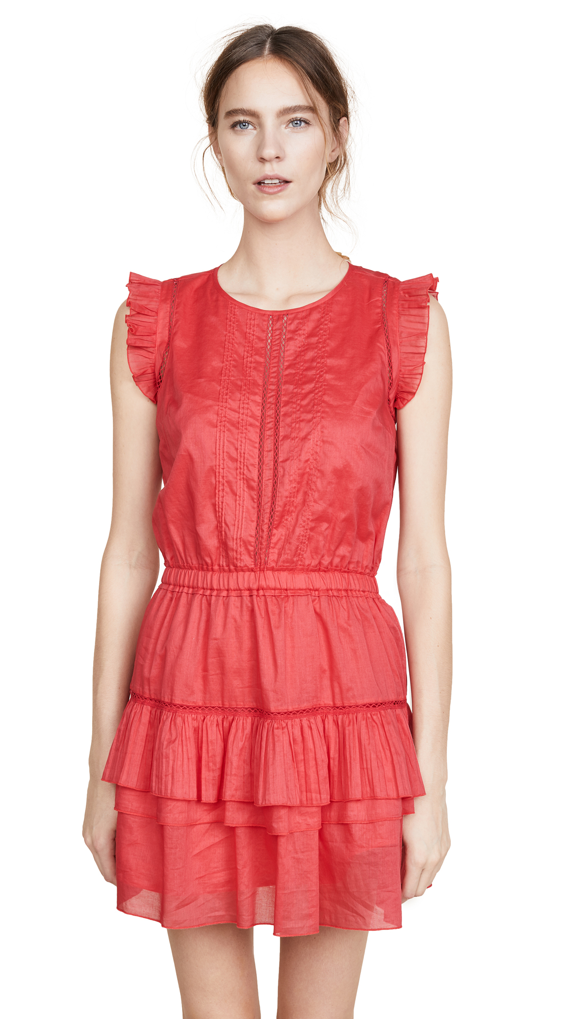Scotch & Soda/Maison Scotch Sleeveless Dress with Pleated Ruffle