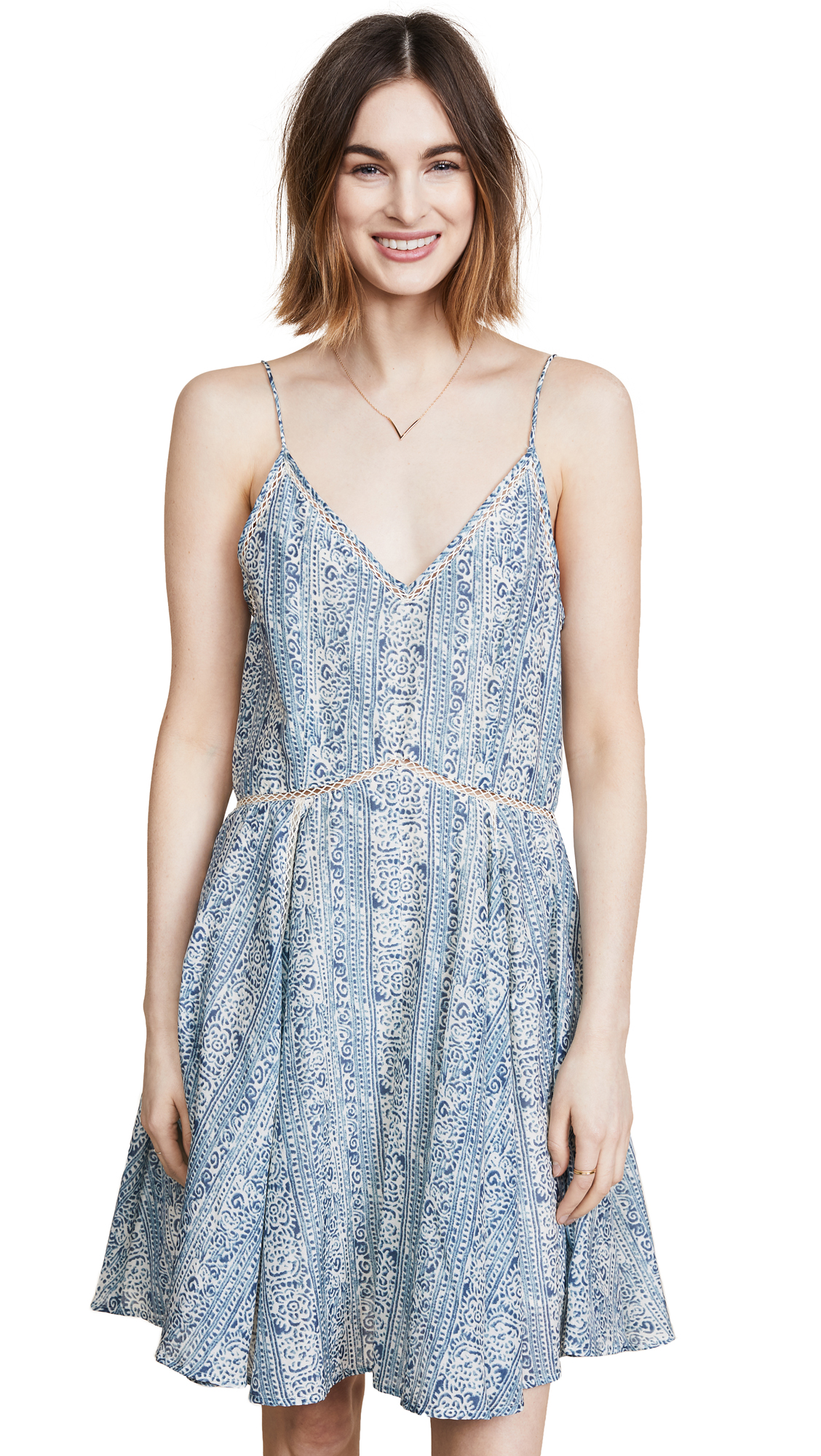 SCOTCH & SODA/MAISON SCOTCH COTTON SILK BEACH DRESS