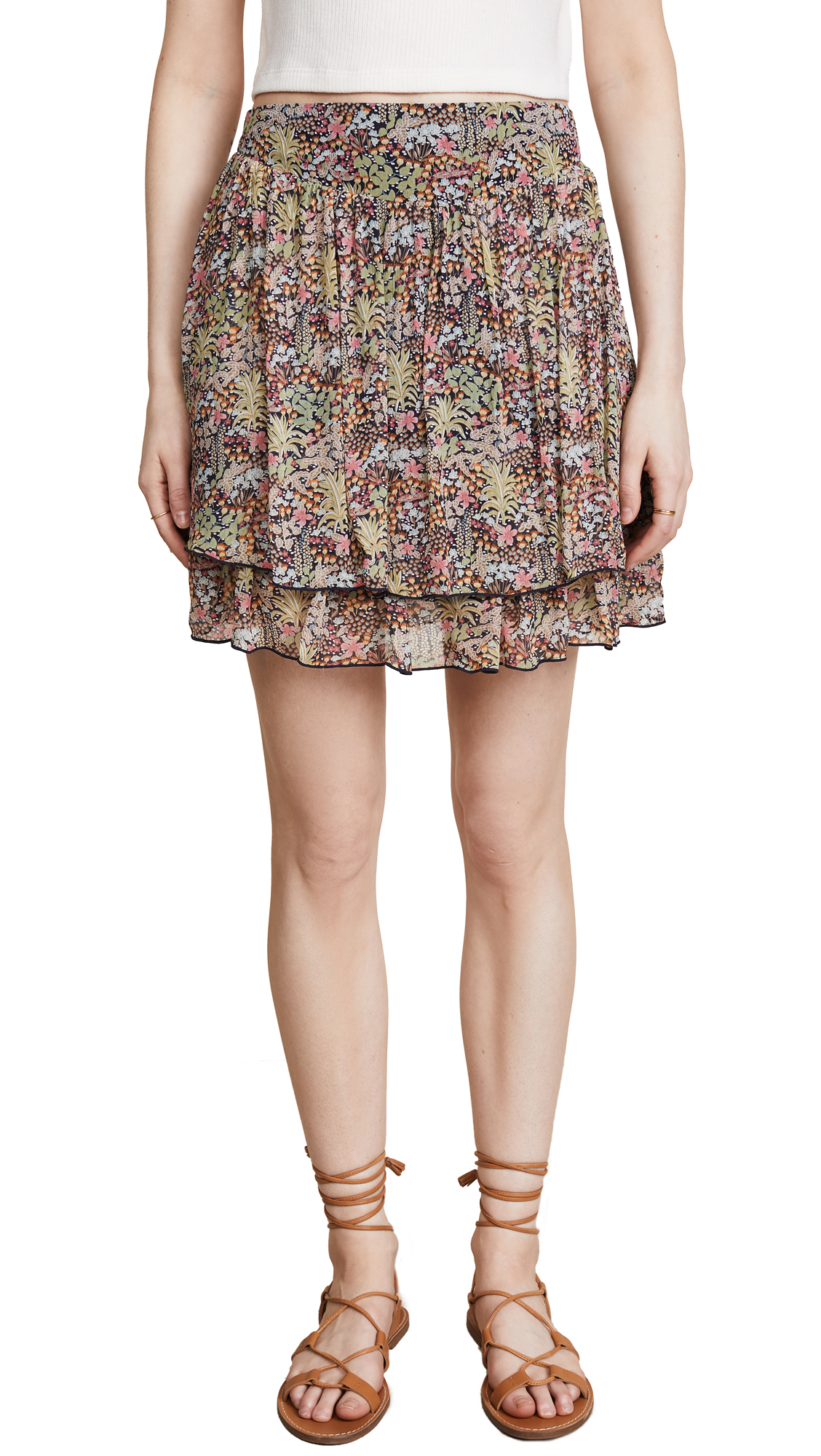 SCOTCH & SODA/MAISON SCOTCH DOUBLE LAYER MINISKIRT