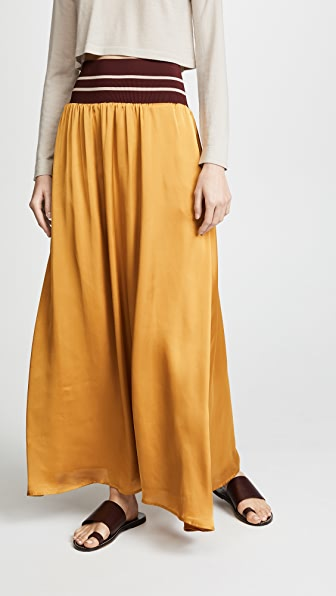 SCOTCH & SODA/MAISON SCOTCH MAXI SKIRT WITH ELASTIC WAIST