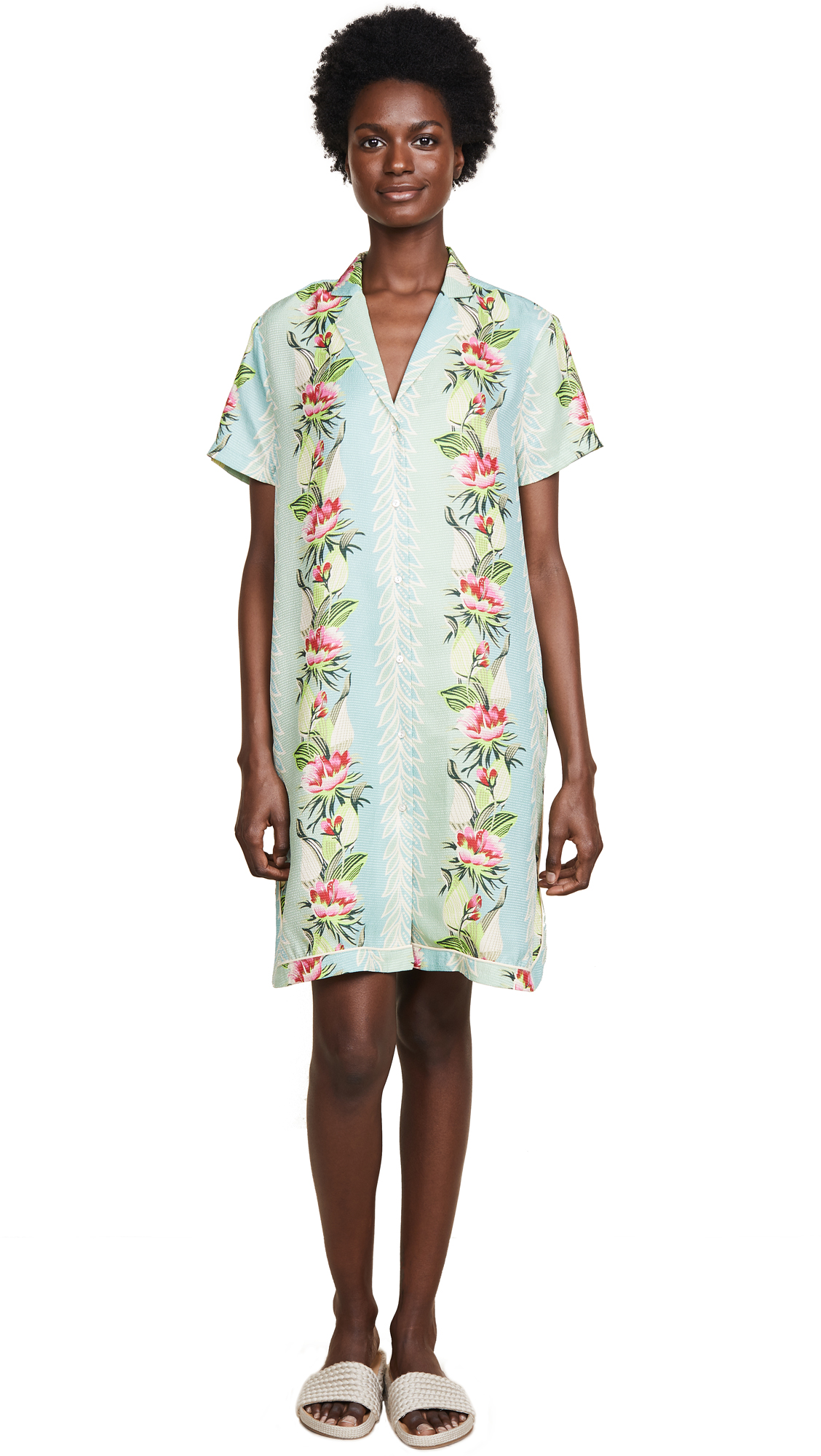 Scotch & Soda/Maison Scotch Poolside Printed Shirtdress In Combo B