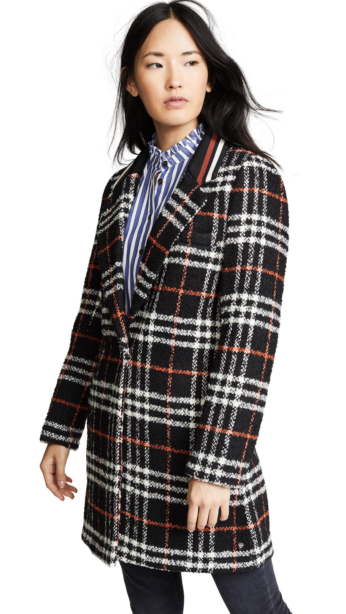 SCOTCH & SODA/MAISON SCOTCH Bonded Wool Jacket in Combo C
